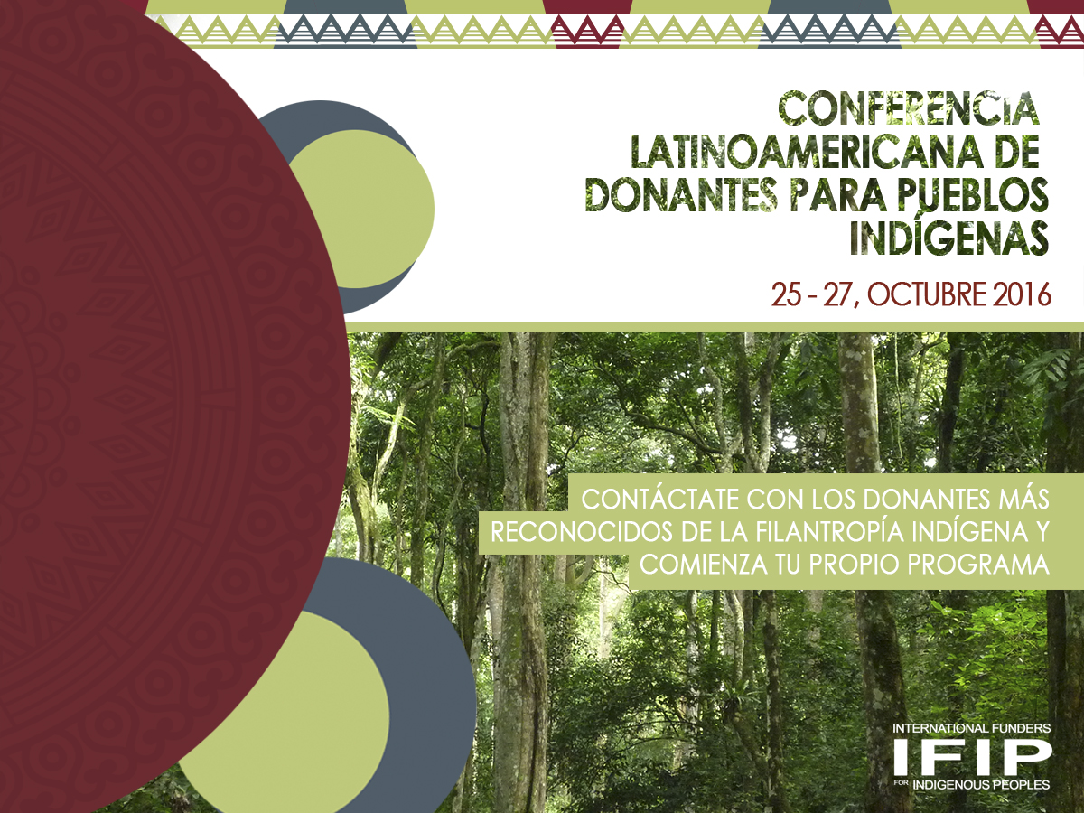Conferencia Latinoamericana de Donantes para Pueblos Indígenas